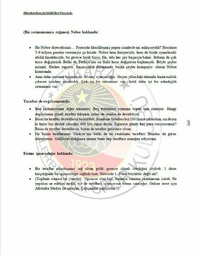 Başkan Murat Cavcav ile gerçekleşen toplantı hakkındaki notlar - 3